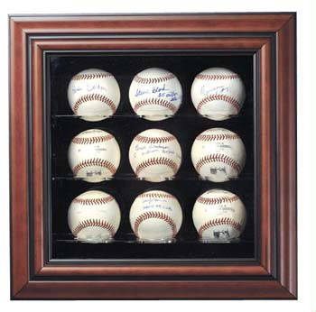 Autographed 9 Baseball Deluxe Display Case Cube