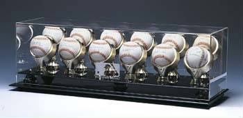 Autographed 12 Baseball Gold Glove Display