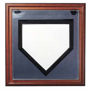 Autographed Baseball Home Plate Deluxe Display Case Cube