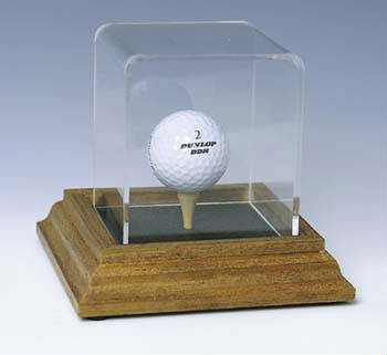 Autographed Golf Ball Tee Deluxe Display Case Cube