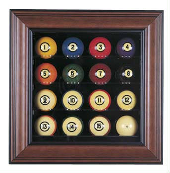Autographed 16 Pool Ball Deluxe Display Case Cube