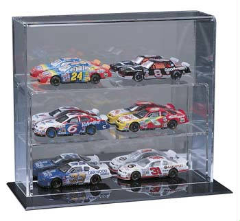 Autographed 6 Mini Car Deluxe Display Case Cube