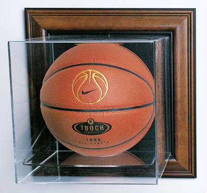 Autographed Wall Mountable Basketball Case