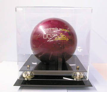 Autographed Bowling Ball Deluxe Display Case Cube