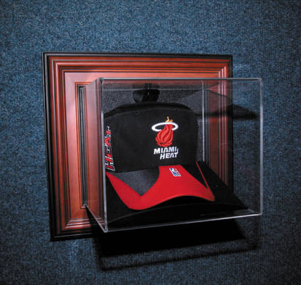 Autographed Wall Mountable Cap Deluxe Display Case Cube