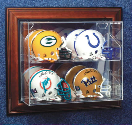 Autographed 4 Mini Helmet Deluxe Display Case Cube