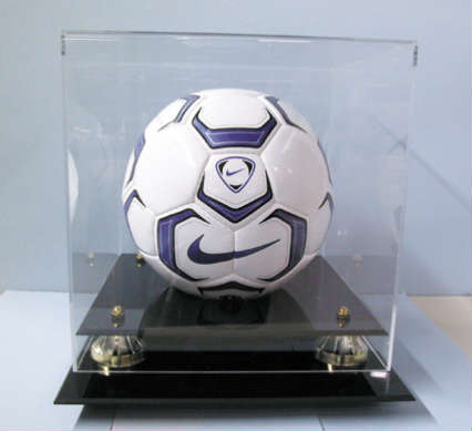 Autographed Soccer Ball Deluxe Display Case Cube