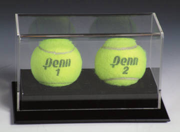 Autographed 2 Tennis Ball Deluxe Display Case Cube