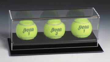 Autographed 3 Tennis Ball Deluxe Display Case Cube