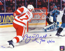 Autographed Brett Hull   - The 700th Goal
