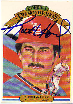 Autographed Keith Hernandez