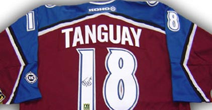 Autographed Alex Tanguay