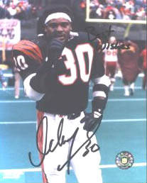 Autographed Ickey Woods