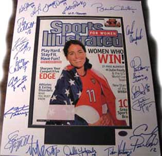 Autographed Womens World Cup Soccer Champions