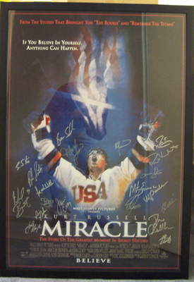 Autographed 1980 Mens Olympic Hockey Team