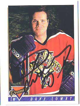 Autographed Dave Lowry