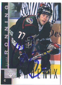 Autographed Cliff Ronning