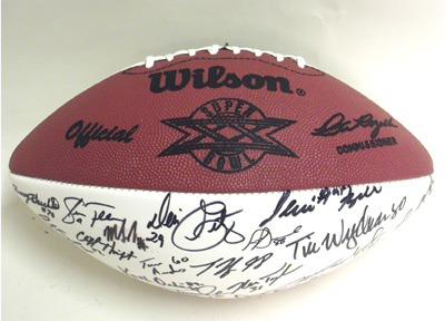 Autographed 1985 Chicago Bears