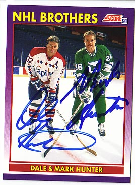 Autographed Dale & Mark Hunter