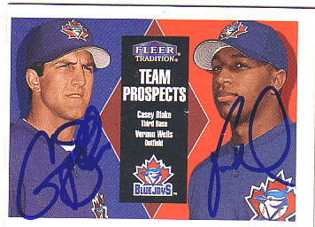 Autographed Vernon Wells & Casey Blake