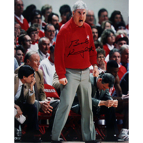 Autographed Bobby Knight