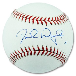David wright autographed baseball for David wright signature