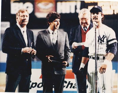 Autographed Don Mattingly & Mickey Mantle