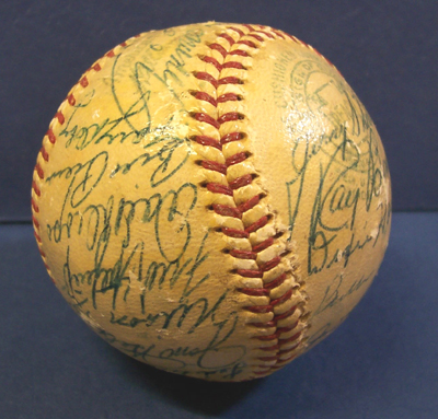 Autographed 1957 Chicago White Sox