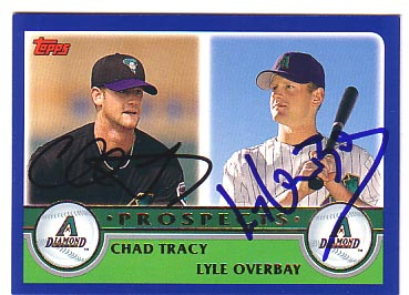 Autographed Chad Tracy & Lyle Overbay