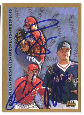 Autographed Braden Looper & Cliff Politte & Brian Rose
