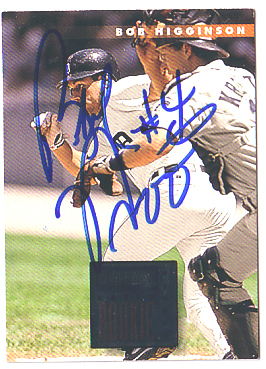 Autographed Bobby Higginson - Rated Rookie