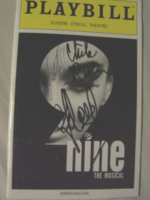 Autographed Nine Playbill