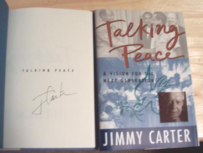 Autographed Jimmy Carter