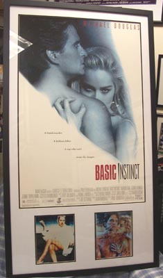 Autographed Basic Instinct Movie Poster Autographed