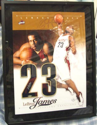 Autographed Lebron James