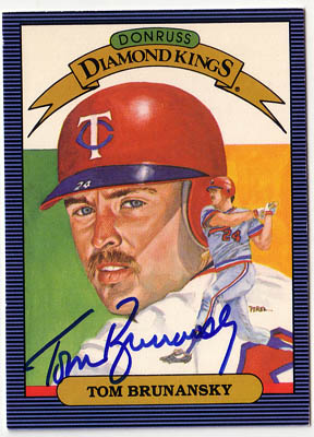 Autographed Tom Brunansky