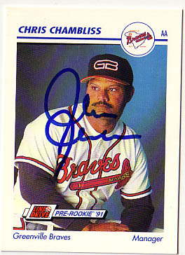 Autographed Chris Chambliss