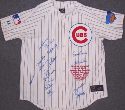 Autographed 1969 Chicago Cubs