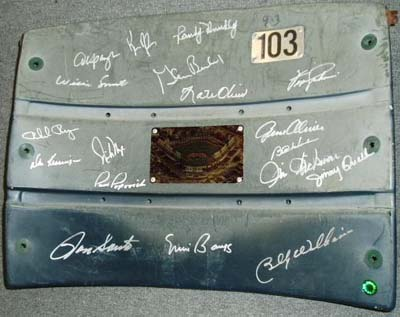 Autographed 1969 Chicago Cubs Wrigley Field Seat