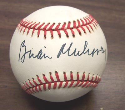 Autographed Brian Mulrooney