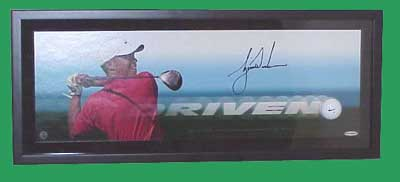 Autographed Tiger Woods