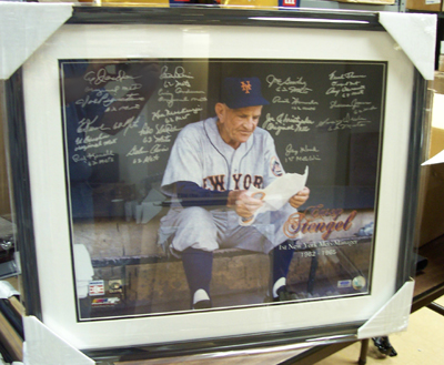 Autographed 1962 New York Mets