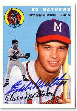 Autographed Eddie Mathews