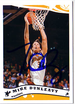Autographed Mike Dunleavy