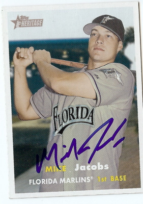 Autographed Mike Jacobs