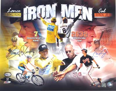 Autographed Lance Armstrong & Cal Ripken