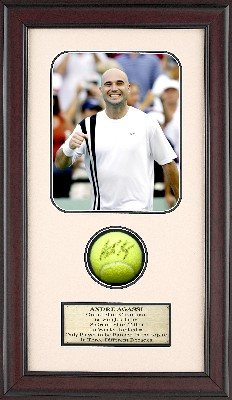 Autographed Andre Agassi