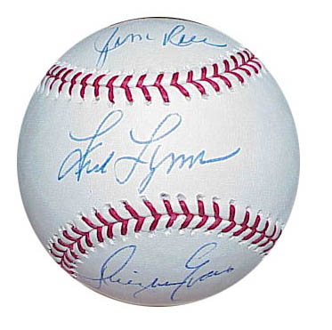 Autographed 1970s Red Sox Outfield