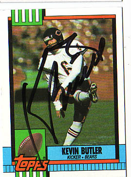 Autographed Kevin Butler