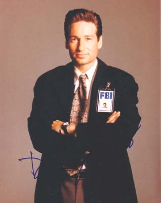 Autographed David Duchovny